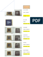 28911037 Gold Content List in CPU Chips
