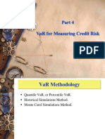 Credit Analysis Part 4 VaR Lecture