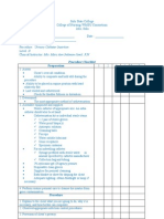Catheterization Checklist