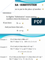 Algebra Substitution