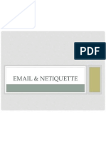 Email and Netiquette