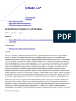 Federal Income Taxation of LLC Members • Morris, Manning & Martin, LLP