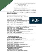 Programa Encuentro Internacional Raul Galvez Cuellar- 2012