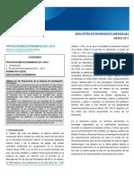 PROYECCIONES ECONÓMICAS 2011-2012