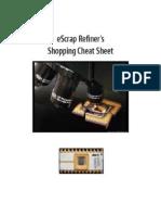 Escraper's Refiners Cheat Sheet