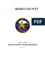 El Dorado County 2005-06 Grand Jury, Final Report