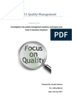 total quality management assignment no  bsns 6351 quality management assignment two