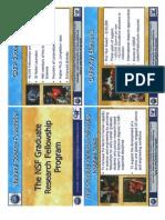 2013 NSF GRFP Handouts