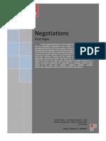 Negotiations - Final Paper  Global MBA 2008 - Umberto Calderon
