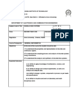 Signals and systems Course Plan