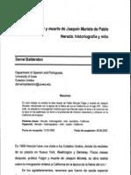 Fulgor y Muerte de Joaquin Murrieta