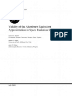 Validity of the Aluminum Equivalent Approximation in Space Shielding