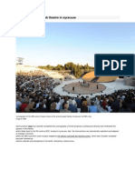 Scenography for Greek Theatre in Syracuse