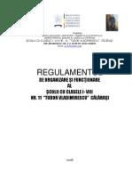 REGULAMENT DE ORGANIZARE SI FUNCTIONARE - 2008