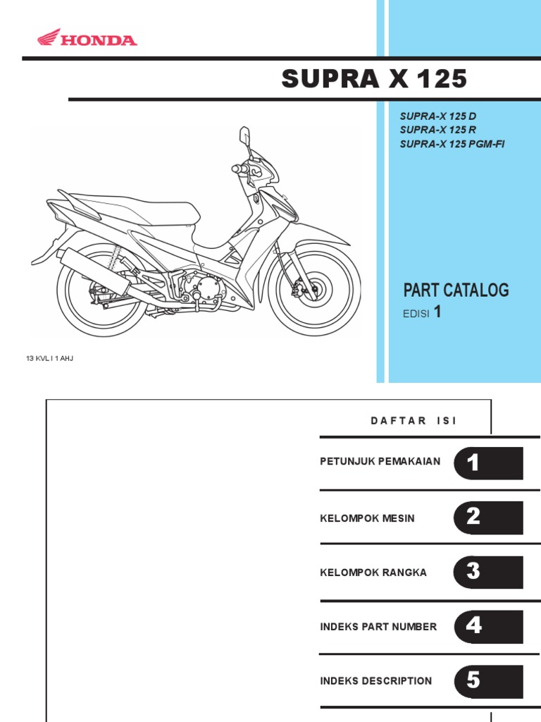 indo honda supra x 125 series part catalog rh scribd com manual book honda tiger revo pdf buku manual honda tiger 2000