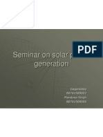 Seminar on Solar Power Generation