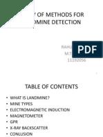 Study of Methods for Landmine Detection(Seminar 3)