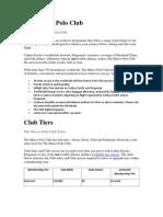 The Membership Plan for Marco Polo Club