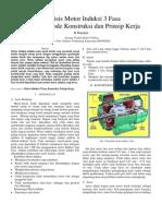 Analisis Motor Induksi 3 Fasa Dengan Metode Konstruksi Dan Prinsip Kerja
