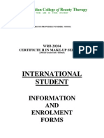 Cert II in Make-up- Enrolment Form - - Sept 2008