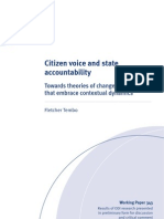 Citizen Voice and State Accountability