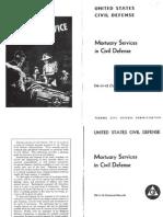 Mortuary Services in Civil Defense (1956)