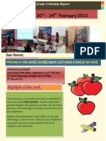 Week of 20th- 24th February2012 Grade 3 Weekly Report 2012 2