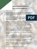 VIII JORNADAS MICOLÓGICAS DE CERLER