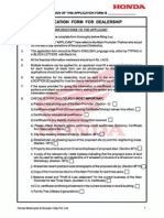 Honda Application Form - Dealership