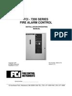 FCI 7200 Fire Alarm Manual