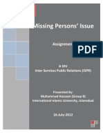 Missing Persons' Issue