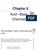 Acid –Base Chemistry