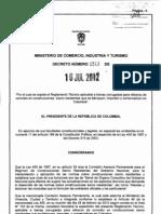 Decreto 1513 16jul2012 Refuerzo Corrugado NTC2289 2007