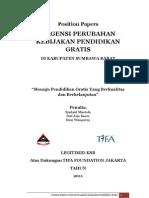 Position Papers Urgensi Perbup Pendidikan Gratis