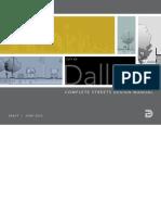 Dallas Complete Streets Design Manual Draft July 2012