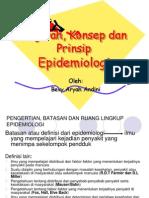 Konsep Dan Prinsip-Prinsip Epidemiologi