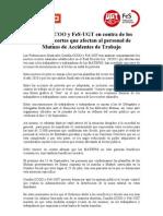 Comunicado Nuevos Recortes MATEPSS 2 08 2012