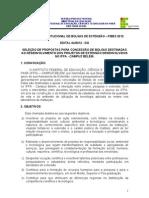 Edital Bolsas de Extenção – PIBEX 2012