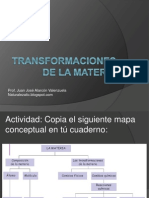 Transformaciones de La Materia