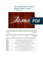SIGNIFICADO DE JEOVÁ