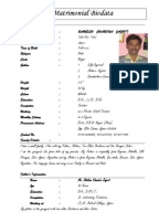 Bride Groom Resume Matrimonial Resume Cv. Bio Data ...