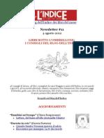 Newsletter #11 del blog dell'Indice dei libri del mese - 4 Agosto 2012