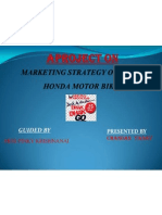 Project on Hero Honda