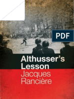Ranciere Althusser's Lesson