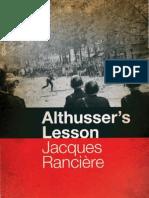 Ranciere Althusser's Lesson