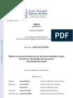 DISSOCIATION DES HYDRATES DE METHANE SEDIMENTAIRES COUPLAGE TRANSFERT DE CHALEUR / TRANSFERT DE MASSE