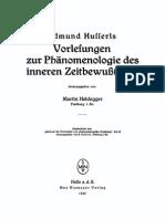 Husserl Vorlesungen Zur Phaenomenologie Des Inneren Zeitbewusstseins