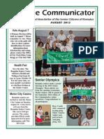 Communicator Senior Newsletter - August 2012