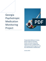 The Georgia Psychotropic Medication Monitoring Project, Jan 2012