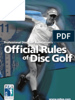 PDGA Rules of Play 2011